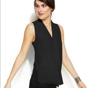Vince Camuto black sleeveless blouse